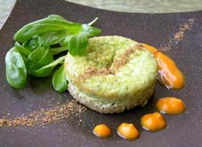 Timbale au fonio coulis courge et cannelle