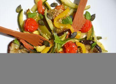Salade de légumes rôtis à la menthe par lesrecettesdejuliette