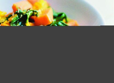 Curry de patates douces aux épinards