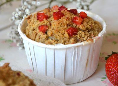 Muffins streusel à la fraise entier des recettes de Juliette