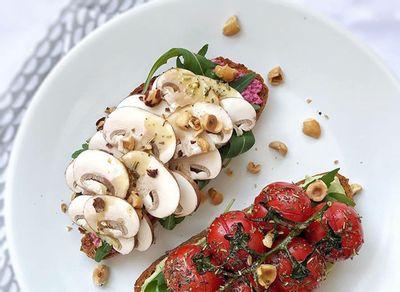 Recette bruschettas végétariennes aux champignons LOU