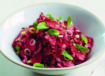 Salade crue marinée miso