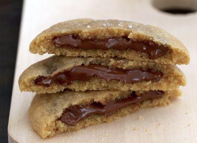 Cookies fourrés à la pâte à tartiner maison