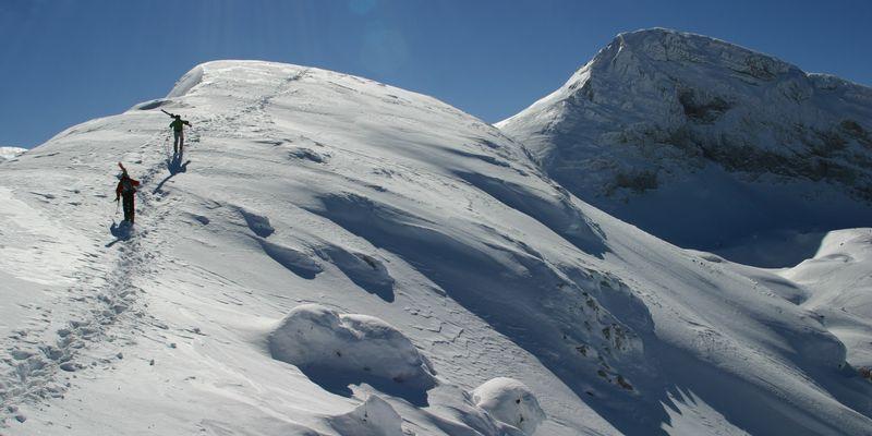 randonnée montagne neige