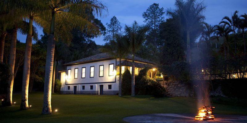 maison palmiers lumières brésil