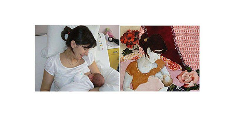cadre bébé maman