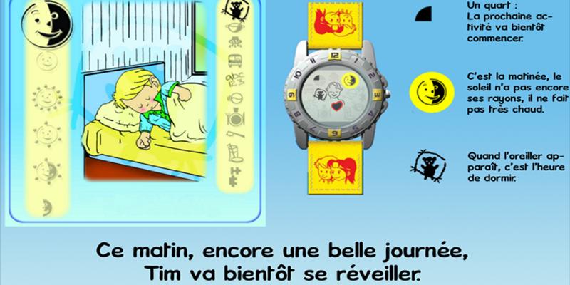 les pictogrammes permettent à l'enfant de se repérer dans sa journée