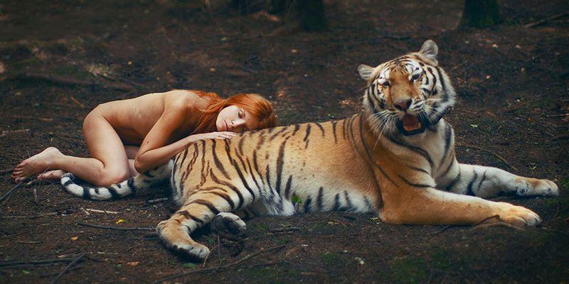 Katerina Plotnikova tigre nude redhair