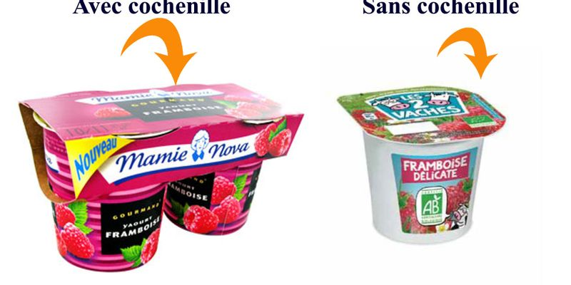 yaourt framboise colorant ingrédient