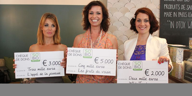 Miss Bio 2014 Lucie Sarah Carole chèques Café Pinson
