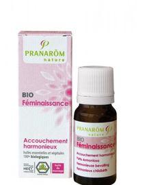 Pranarom Huile de Massage bio Accouchement Harmonieux Féminaissance