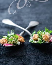 Salade libanaise aux croquettes de chèvre