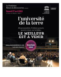 L'Université de la Terre 2013