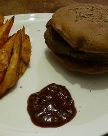 Burger végétarien et sans gluten