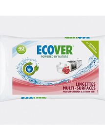 ECOVER - Lingettes Multi-surfaces Grenade et Citron vert (40)