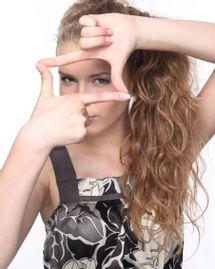 femme main carré