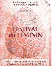Festival du feminin octobre 2013