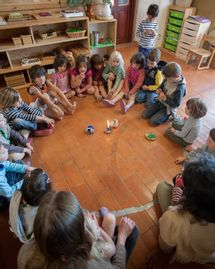 Activité de groupe à la Ferme des enfants