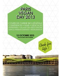 Paris vegan day 2013 affiche
