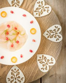 carpaccio saint jacques virginie conan menu de noel