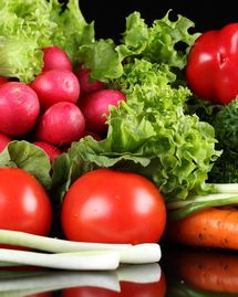 tomate, salade, poivron, radis, légumes