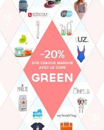 Réduction de 20% spécial fête des mères par le Collectif Green