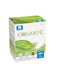 Serviettes 100% coton bio ultra-fines normales à ailettes Organyc