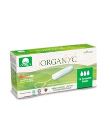 Tampons 100% coton bio super sans applicateur Organyc