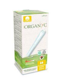 Tampons 100% coton bio réguliers avec applicateur Organyc