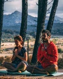 meditation couple