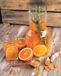 infusion orange sanguine et curcuma