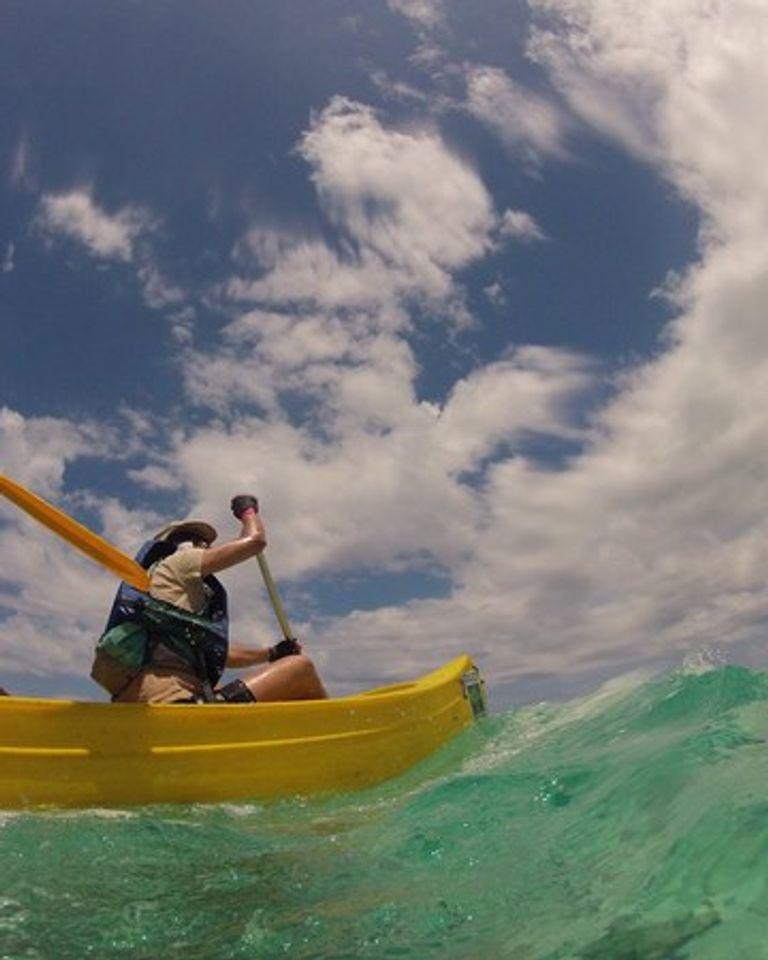 Raid l'Arbre vert jour  5 canoe