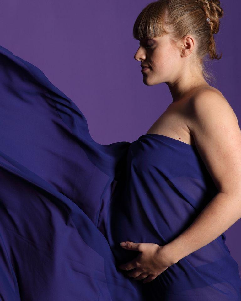 femme enceinte voile