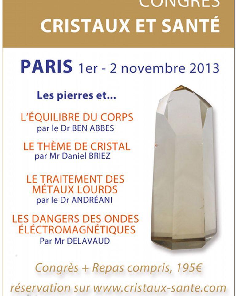 congres cristaux et santé paris 2013