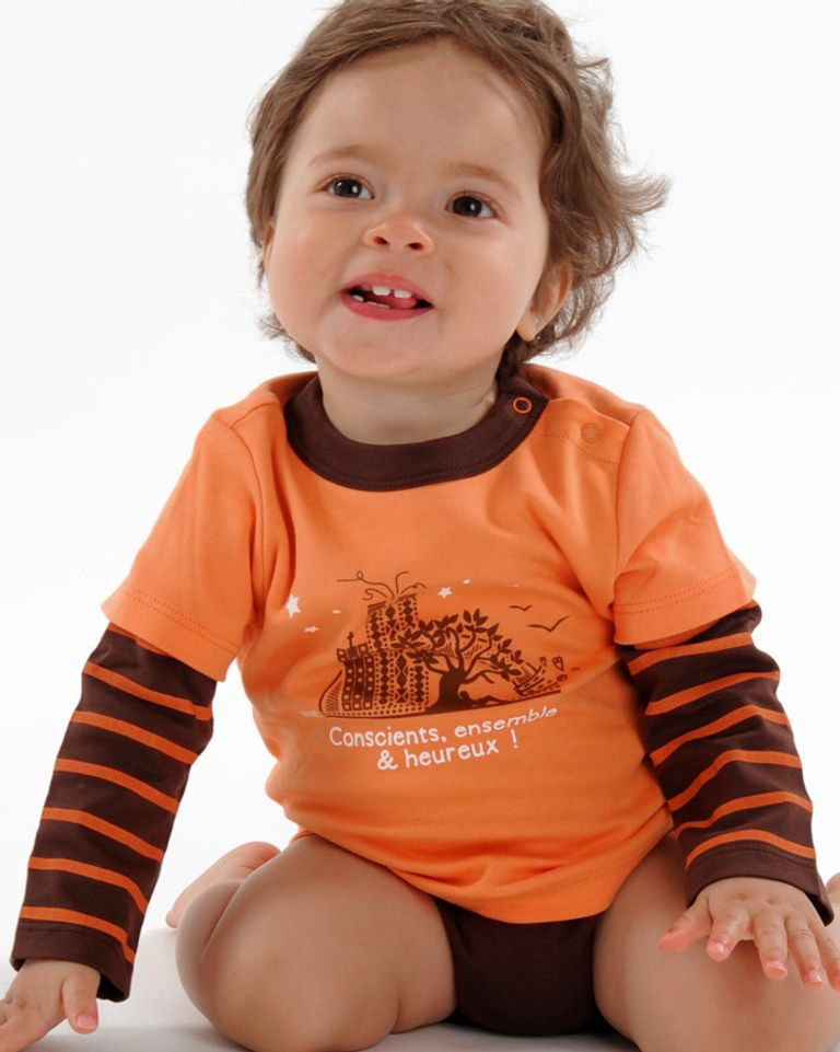 Body T-shirt en coton bio de la marque Conscients