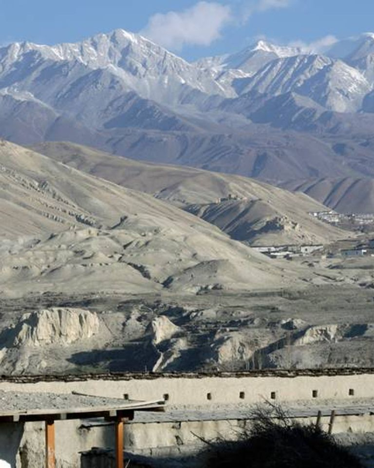 village de Mustang népal himalaya
