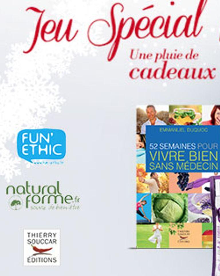 Jeu concours Noël 2013 avec FemininBio, Fun'Ethic, Naturalforme et les éditions Thierry Souccar