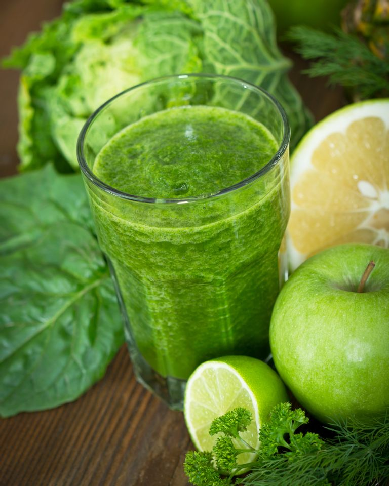 green smoothie pomme citron persil