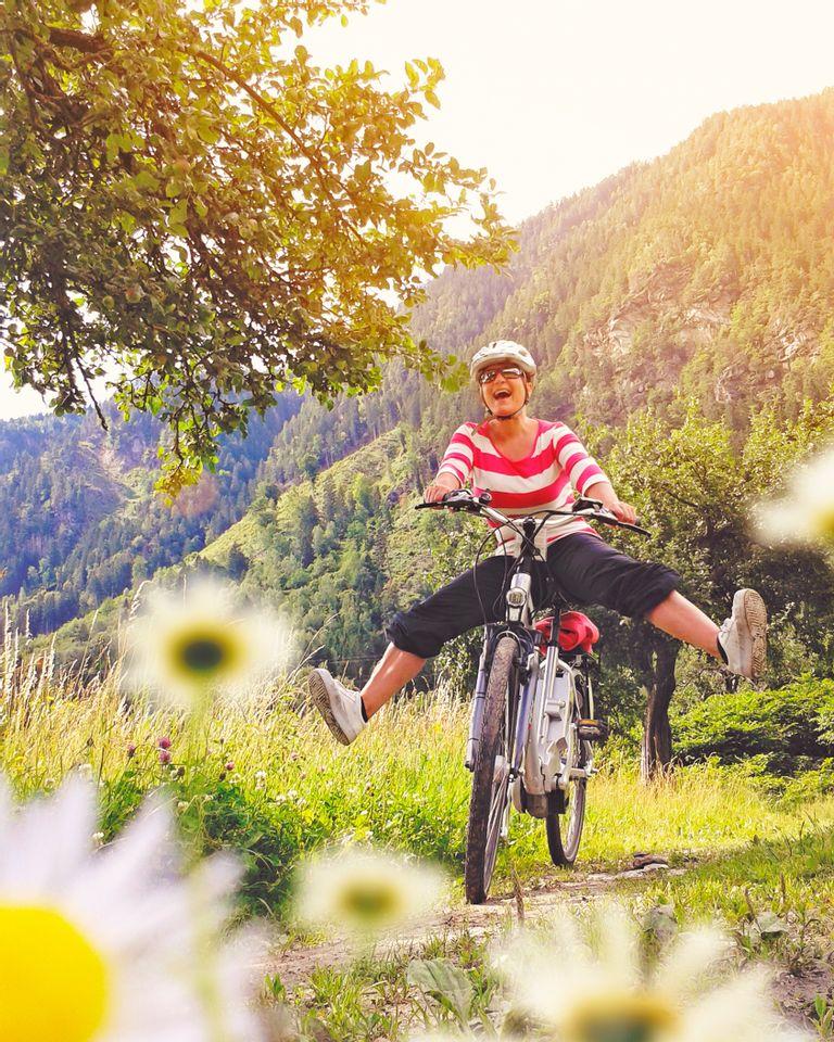 joie bonheur vélo heureuse printemps