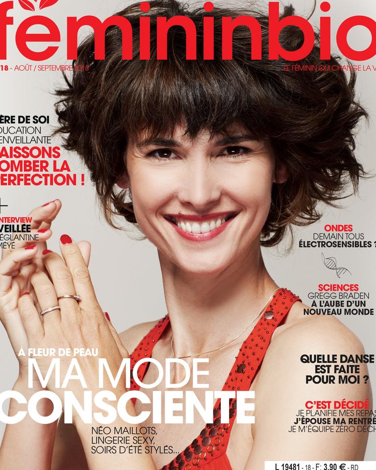 Couverture magazine FemininBio 18 Eglantine Eméyé