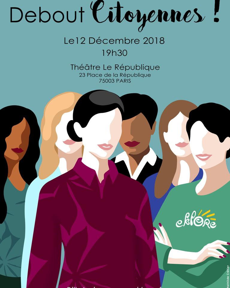 """""""Debout Citoyennes"""" par Eklore le 12 décembre 2018"""