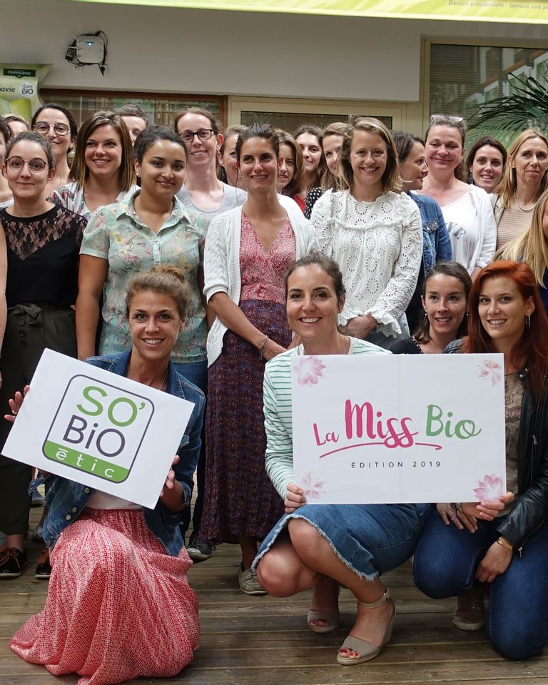 Equipe SO BiO'étic pour La Miss Bio 2019