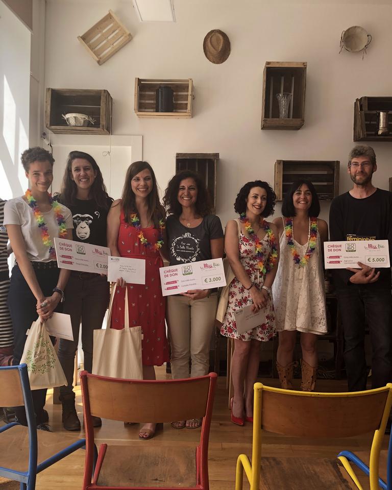 Miss Bio 2019 : la remise des prix avec les associations et les gagnantes