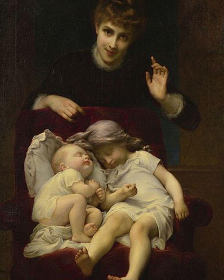 Motherhood peinture Adolphe Piot [Public domain]