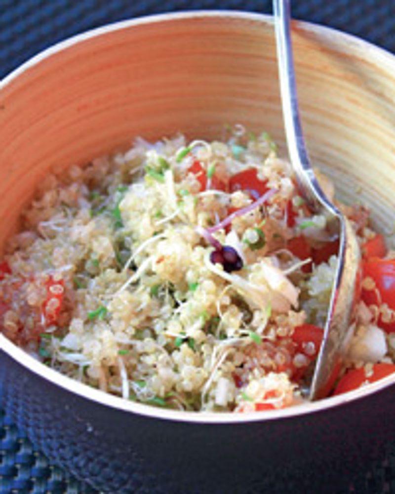 Taboulé de quinoa aux graines germées