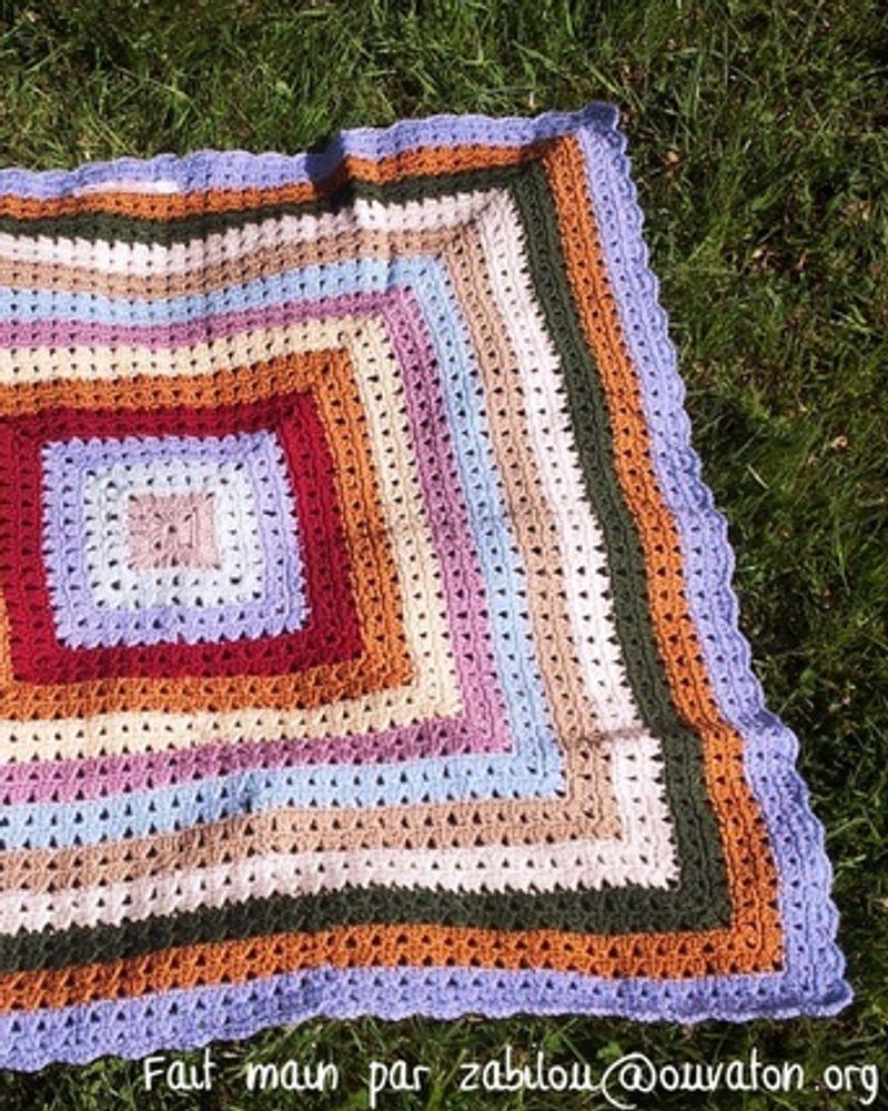La couverture bébé crocheté