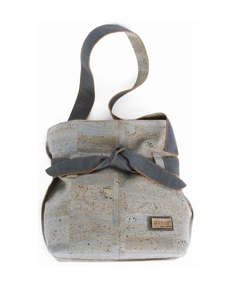 Le sac à main noeud  bleu en liège