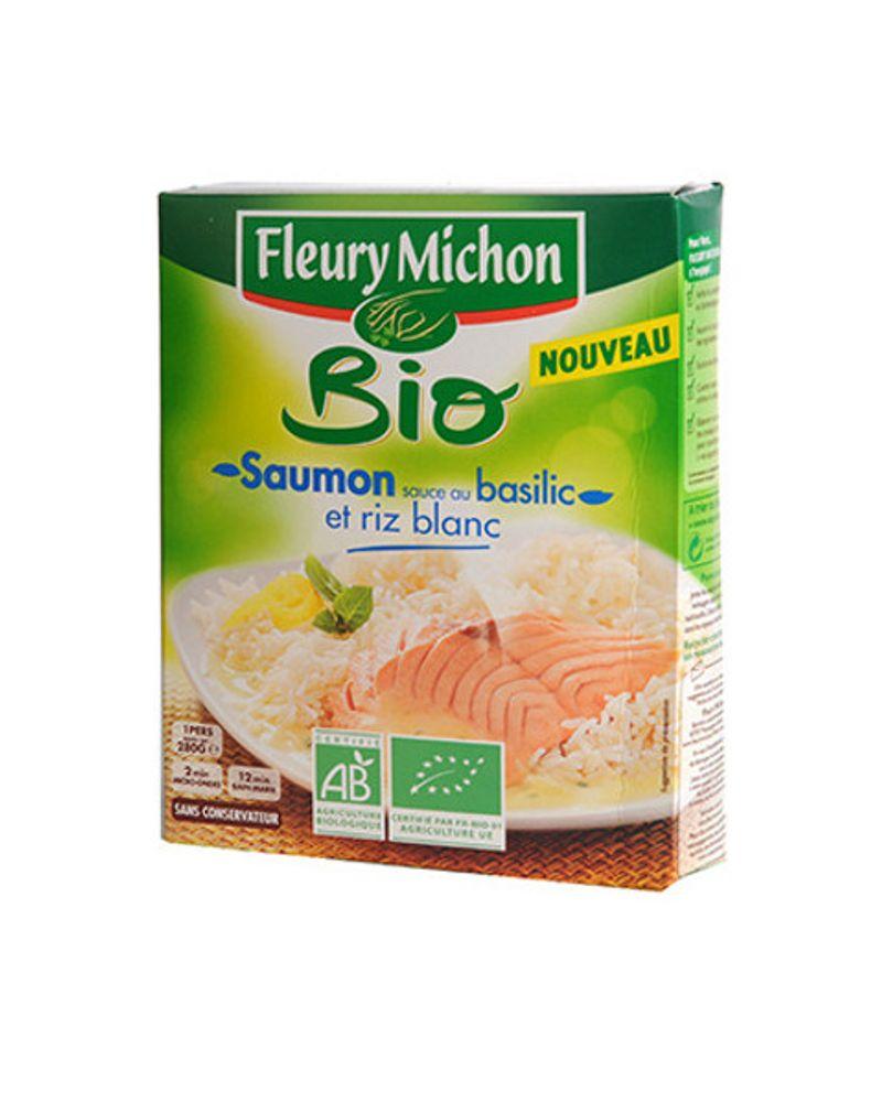 Saumon bio sauce basilic et riz blanc de Fleury Michon