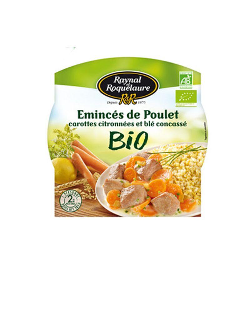 L'émincé poulet carottes et blé bio de Raynal & Roquelaure