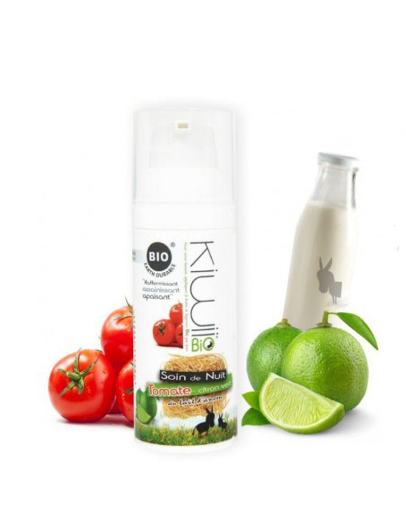Le soin de nuit tomate, citron vert et lait d'ânesse